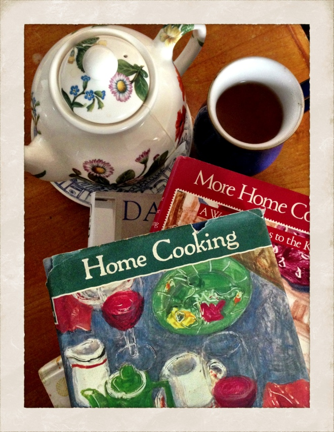Two cookbook classics...Home Cooking and More Home Cooking by Laurie Colwin.