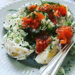 Scandinavian Gravlax Potato Salad