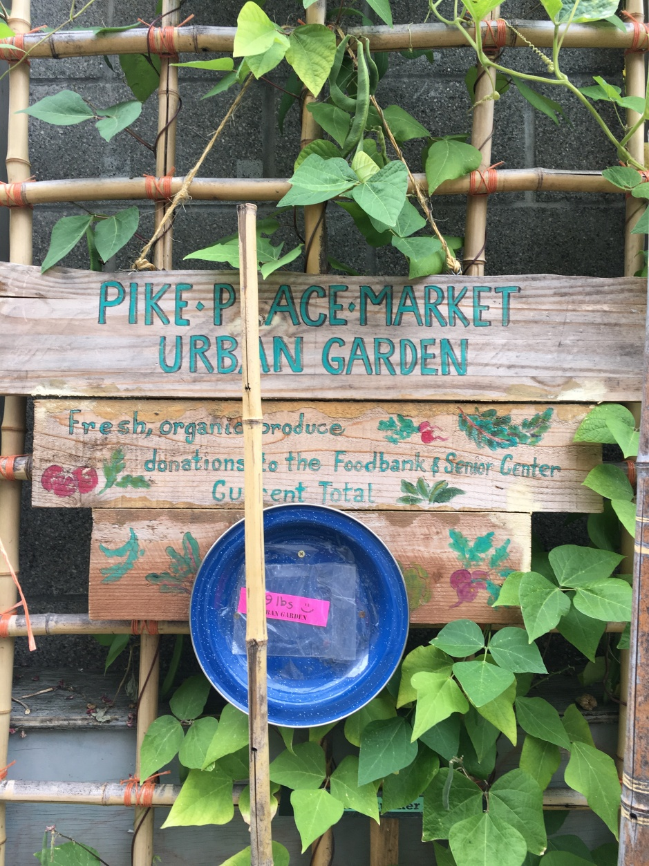 Sign at  Piek Place Market Urban Garden